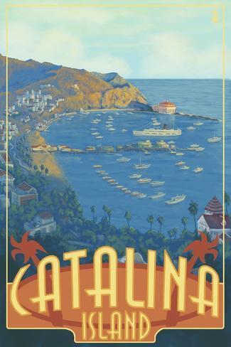Catalina Island, California, Travel Scene Art Print