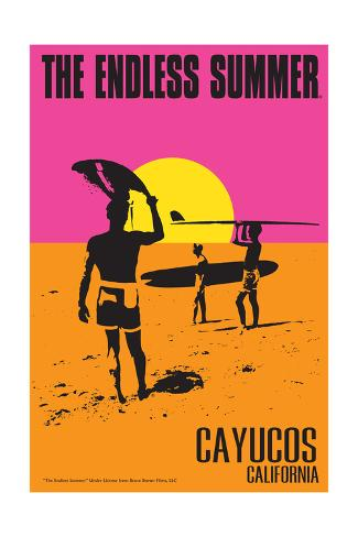 Cayucos, California - the Endless Summer - Original Movie Poster Art Print