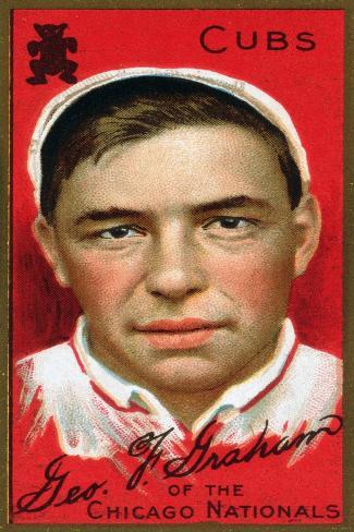 Chicago, IL, Chicago Cubs, George F. Graham, Baseball Card Art Print