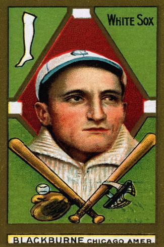 Chicago, IL, Chicago White Sox, Russell A. Blackburne, Baseball Card Art Print