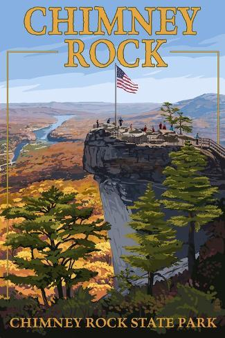 Chimney Rock State Park, NC - View from Top Art Print