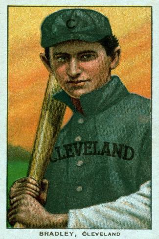 Cleveland, OH, Cleveland Naps, Bill Bradley, Baseball Card Art Print