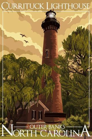 Currituck Lighthouse - Outer Banks, North Carolina Art Print