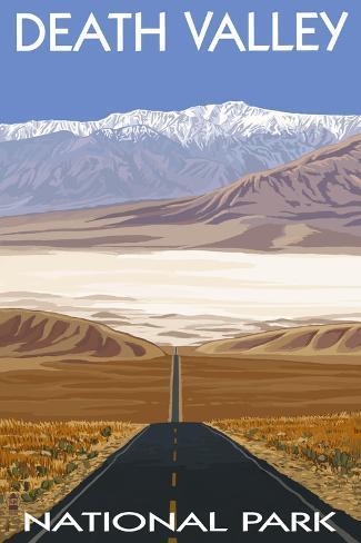 オールポスターズの ランターン プレス death valley national park