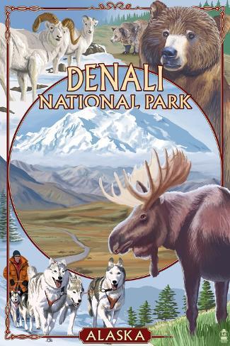 Denali National Park, Alaska - Park Views Art Print