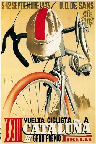 Divulgação de corrida de bicicleta Impressão artística