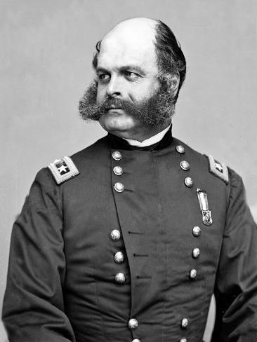 General Ambrose Burnside of Indiana, Civil War Art Print