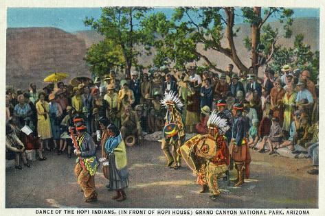 Grand Canyon Nat'l Park, Arizona - Dance of the Hopi in front of Hopi House Art Print