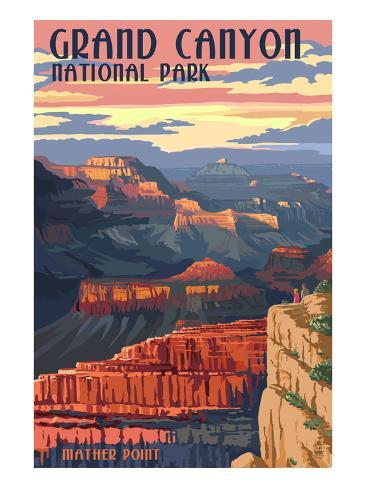 Grand Canyon National Park - Mather Point Art Print