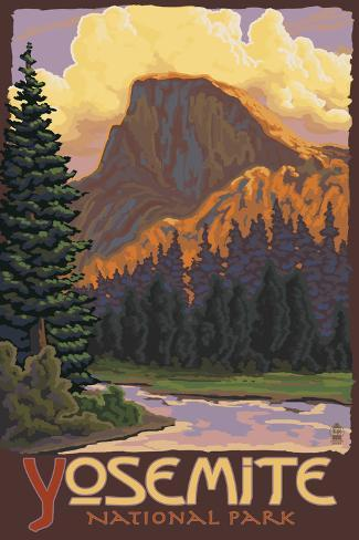 Half Dome, Yosemite National Park, California Art Print