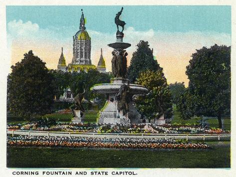 Hartford, Connecticut - Bushnell Park Corning Fountain Art Print