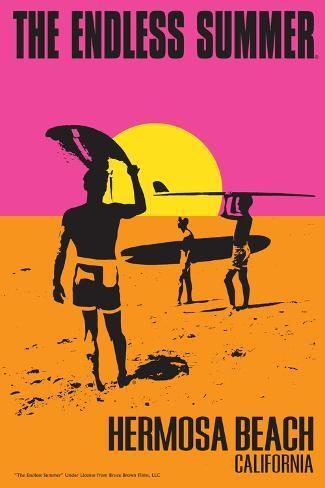 Hermosa Beach, California - the Endless Summer - Original Movie Poster Art Print