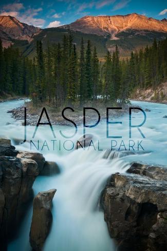 Jasper National Park, Alberta, Canada - Sunwapta Falls Art Print