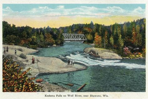Keshena Falls, Wisconsin - Wolf River Near Shawano Scene Art Print