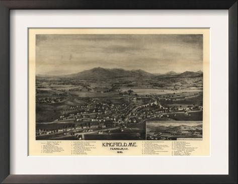 Kingfield Maine Map.Kingfield Maine Panoramic Map Posters By Lantern Press At