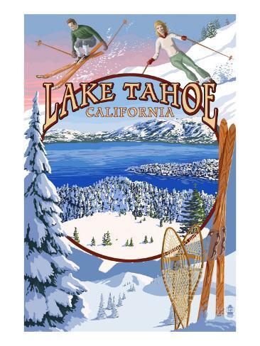 Lake Tahoe, CA Winter Views Art Print