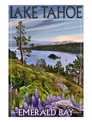 Lake Tahoe, California - Emerald Bay Art Print