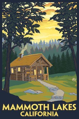 Mammoth Mountain, California - Cabin in the Woods Art Print
