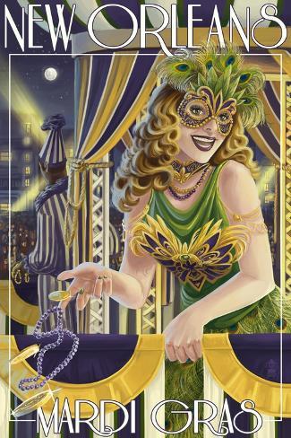 Mardi Gras - New Orleans, Louisiana Art Print