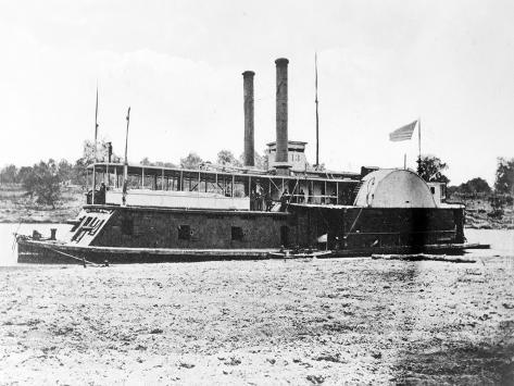 Mississippi River, U.S. Gunboat Fort Hindman, Civil War Art Print