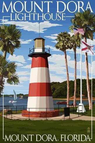 Mount Dora, Florida - Lighthouse Art Print