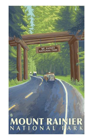 Mount Rainier, Nisqually Entrance Art Print
