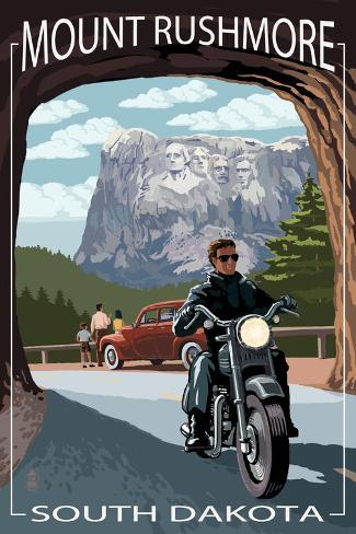 Mount Rushmore National Memorial, South Dakota - Tunnel Scene Art Print