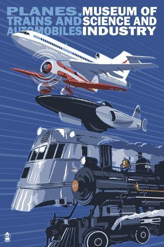 Museum of Science and Industry Vehicles - Chicago, IL Art Print