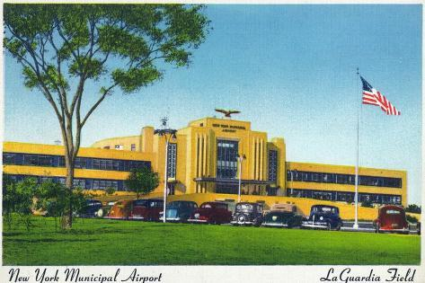 New York City, New York - View of La Guardia Airport Terminal Art Print