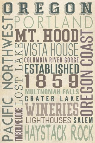 Oregon - Typography Art Print