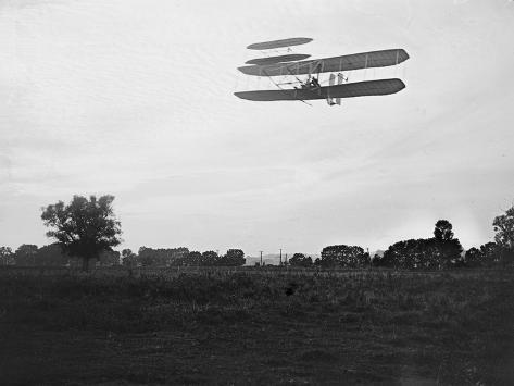 Orville Wright on Flight 41 at 60 foot high Photograph - Dayton, OH Art Print