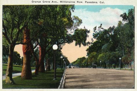 Pasadena, California - Millionaire Row, Orange Grove Avenue Art Print
