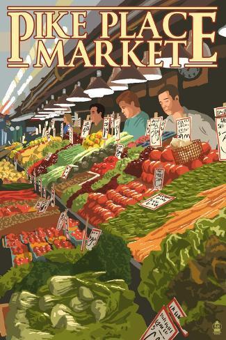 Pike Place Market Produce - Seattle, WA Taidevedos