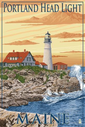 Portland Head Light - Portland, Maine Art Print