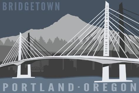 Portland, Oregon - Tilikum Crossing Bridge - Bridgetown Premium Giclee Print
