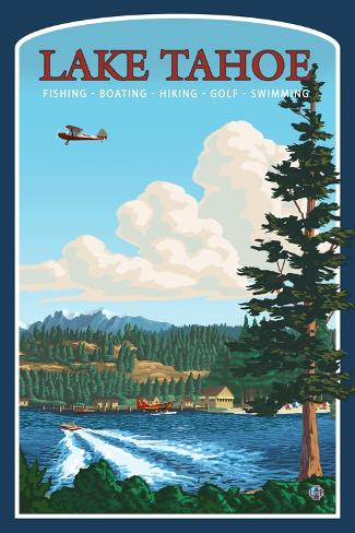 Recreation, Lake Tahoe, California Art Print