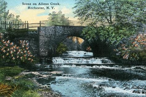 Rochester, New York - Allen's Creek Scene Art Print