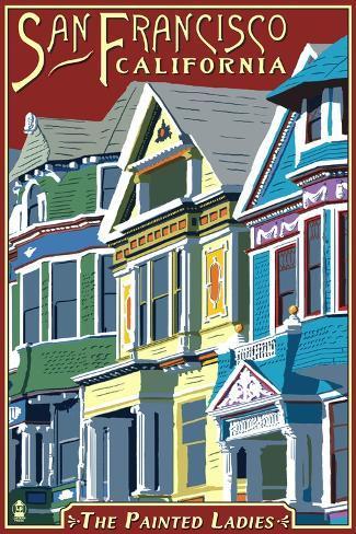 San Francisco, California - Painted Ladies Art Print