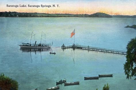 Saratoga Springs, New York - View of Saratoga Lake Art Print