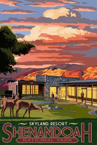 Shenandoah National Park, Virginia - Skyland Resort Art Print