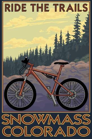 Snowmass, Colorado - Mountain Bike Art Print