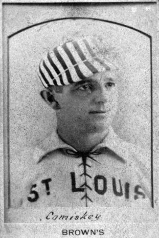 St. Louis, MO, St. Louis Browns, Chas. Comiskey, Baseball Card Art Print