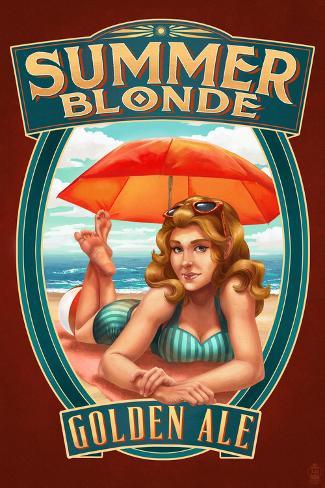 Summer Blonde Golden Ale Pinup Girl Seinämaalaus