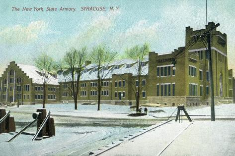 Syracuse, New York - NY State Armory Exterior View Art Print