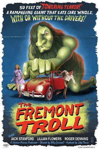 The Fremont Troll Movie Poster Art Print