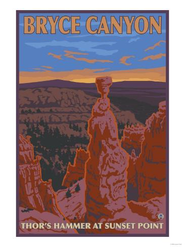 Thor's Hammer, Bryce Canyon, Utah Art Print