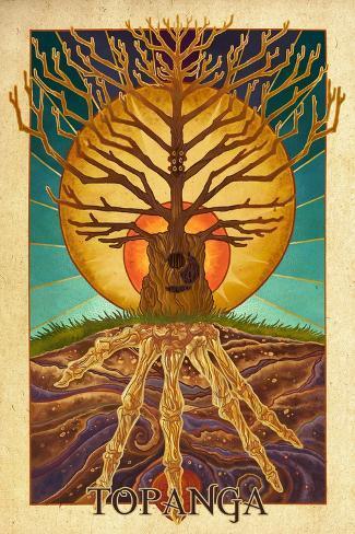 Topanga, California - Guitar Tree Art Print