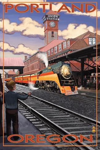 Union Train Station - Portland, Oregon Art Print