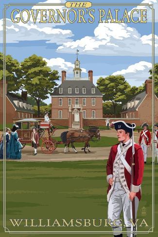 Williamsburg, Virginia - Governor's Palace in Spring Art Print