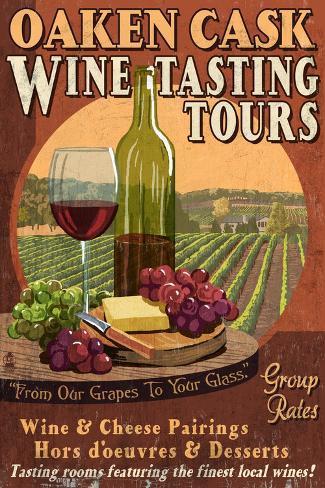 Wine Tasting - Vintage Sign Taidevedos